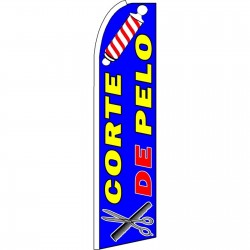 Corte De Pelo Blue Extra Wide Swooper Flag