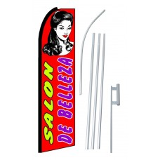 Salon De Belleza (Beauty Salon) Extra Wide Swooper Flag Bundle