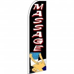 Massage Extra Wide Swooper Flag