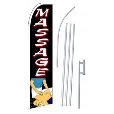 Massage Extra Wide Swooper Flag Bundle