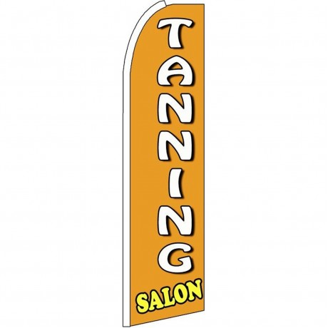 Tanning Salon Orange Extra Wide Swooper Flag