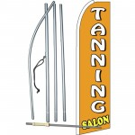 Tanning Salon Orange Extra Wide Swooper Flag Bundle