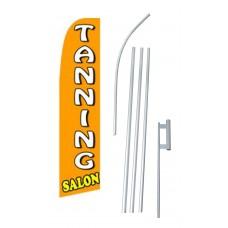 Tanning Salon Extra Wide Swooper Flag Bundle