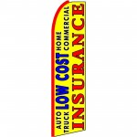 Low Cost Insurance Yellow Extra Wide Swooper Flag