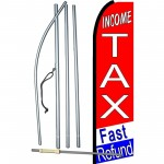 Income Tax Fast Refund Extra Wide Swooper Flag Bundle