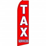 Tax Services Red Extra Wide Swooper Flag