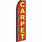 Carpet Sale Red Extra Wide Swooper Flag