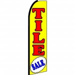 Tile Sale Yellow Extra Wide Swooper Flag