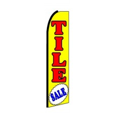 Tile Sale Extra Wide Swooper Flag