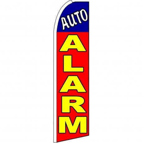 Auto Alarm Red Extra Wide Swooper Flag
