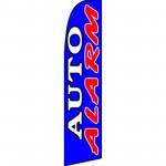 Auto Alarm Blue Extra Wide Swooper Flag
