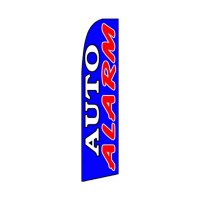 Auto Alarm Red White Blue Extra Wide Swooper Flag