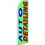 Auto Detailing Green Extra Wide Swooper Flag