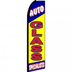 Auto Glass Specialists Extra Wide Swooper Flag