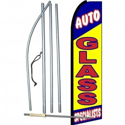Auto Glass Specialists Extra Wide Swooper Flag Bundle