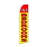 1 & 2 Bedrooms Yellow Extra Wide Swooper Flag