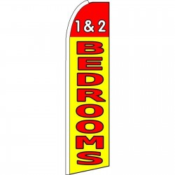 1 & 2 Bedrooms Yellow Extra Wide Swooper Flag