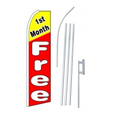 1st Month Free Red Extra Wide Swooper Flag Bundle