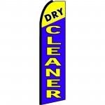 Dry Cleaner Blue Extra Wide Swooper Flag