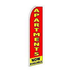 Apartments Now Available Red Extra Wide Swooper Flag