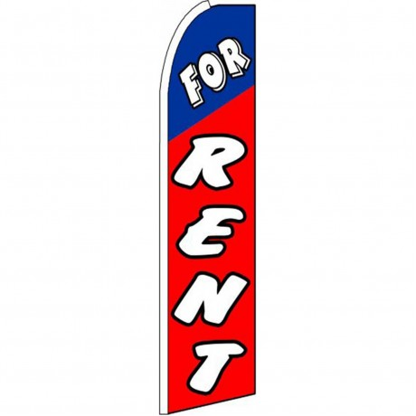 For Rent Red Extra Wide Swooper Flag