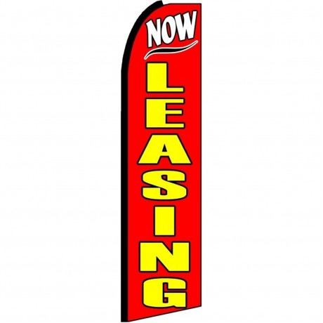 Now Leasing Red Extra Wide Swooper Flag