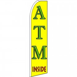 ATM Inside Yellow Extra Wide Swooper Flag