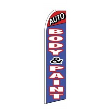 Auto Body & Paint Extra Wide Swooper Flag