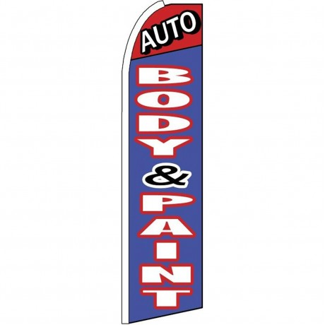 Auto Body & Paint Blue Extra Wide Swooper Flag