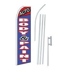 Auto Body & Paint Extra Wide Swooper Flag Bundle