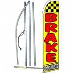 Brake Specialists Extra Wide Swooper Flag Bundle