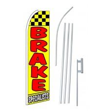 Brake Specialists Extra Wide Swooper Flag Bundle