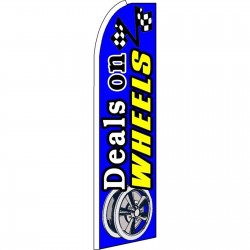 Deals On Wheels Blue Extra Wide Swooper Flag