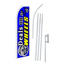 Deals On Wheels Blue Extra Wide Swooper Flag Bundle