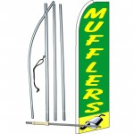 Mufflers Green Extra Wide Swooper Flag Bundle