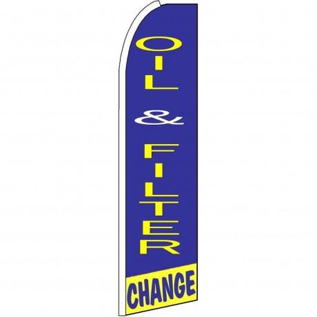 Oil & Filter Change Extra Wide Swooper Flag