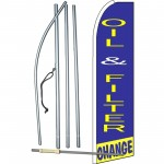 Oil & Filter Change Extra Wide Swooper Flag Bundle
