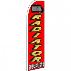 Radiator Specialists Red Yellow Extra Wide Swooper Flag
