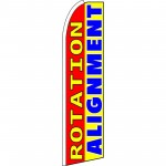 Tire Rotation Alignment Extra Wide Swooper Flag