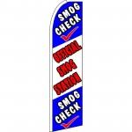 Smog Check Official Smog Station Extra Wide Swooper Flag