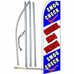Smog Check Official Smog Station Extra Wide Swooper Flag Bundle