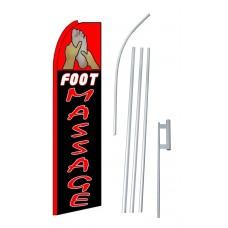 Foot Massage Extra Wide Swooper Flag Bundle