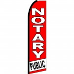 Notary Public Red White Extra Wide Swooper Flag