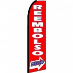 Reembolso Rapido(Rapid Refund) Extra Wide Swooper Flag