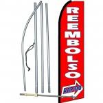 Reembolso Rapido (Rapid Refund) Extra Wide Swooper Flag Bundle