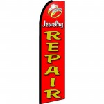 Jewelry Repair Red Extra Wide Swooper Flag