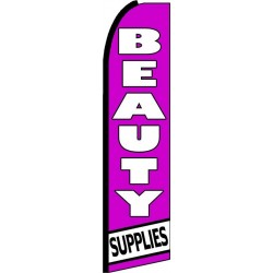 Beauty Supplies Purple Extra Wide Swooper Flag