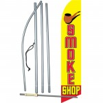 Smoke Shop Yellow Extra Wide Swooper Flag Bundle
