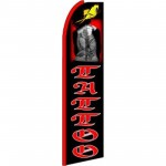 Tattoo Graphic Extra Wide Swooper Flag