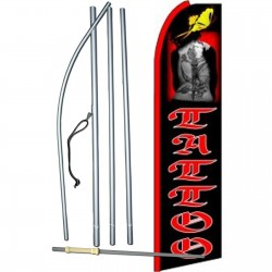Tattoo Graphic Extra Wide Swooper Flag Bundle